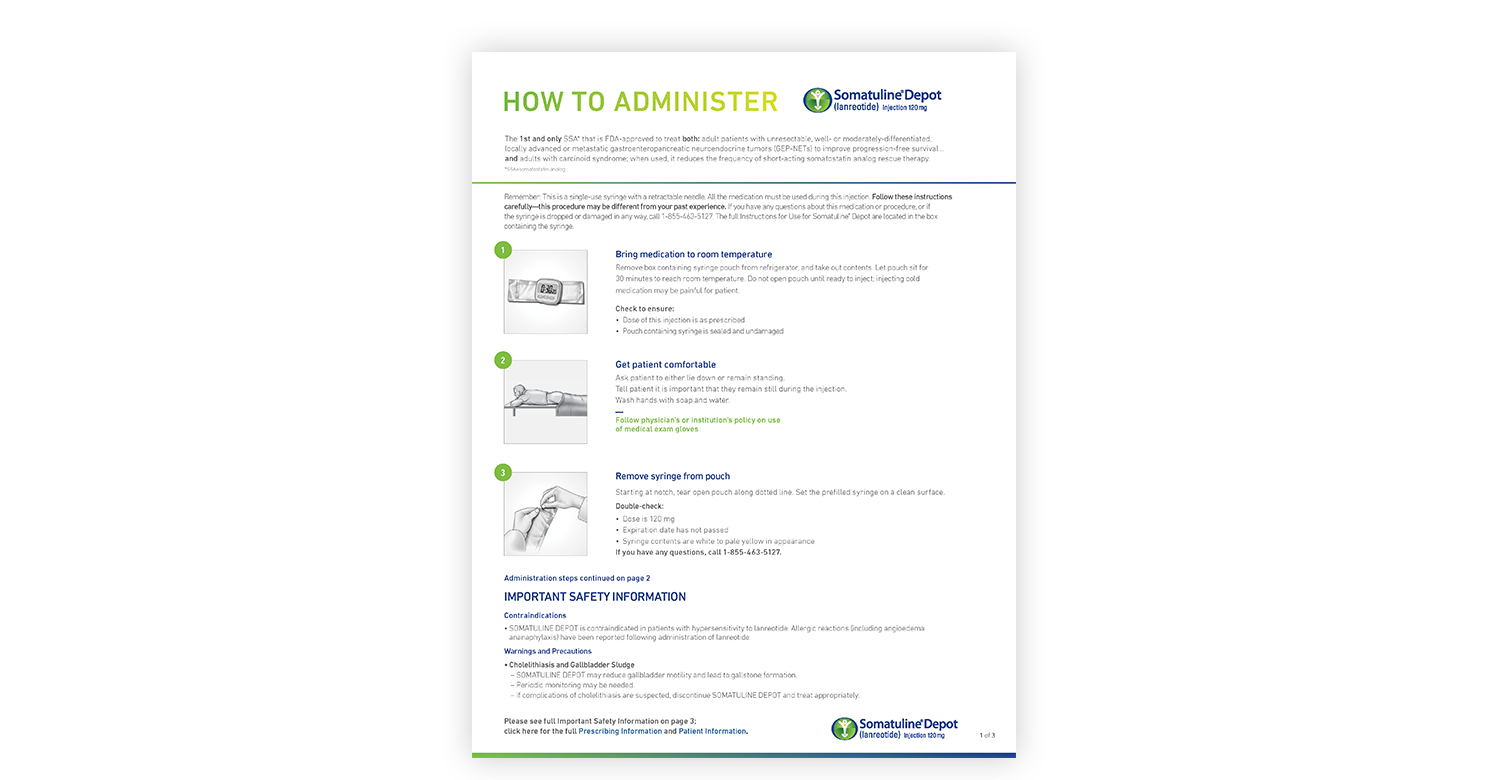 Somatuline Depot Guide To Administration